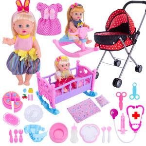 儿童<span class=H>玩具</span>推车女孩过家家小推车带娃娃婴儿宝宝仿真手推车医生<span class=H>玩具</span>