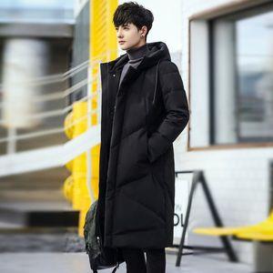 新款冬季男款<span class=H>毛条</span>长款保暖耐寒加长过膝羽绒棉服男装外套时尚加厚