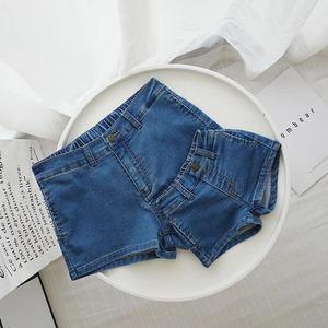 婴<span class=H>童装</span>婴儿<span class=H>亲子装</span>母女装夏季百搭针织牛仔短裤1-3岁宝宝裤