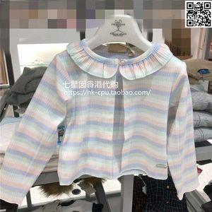 香港代购19春夏CHICKEEDUCK小鸡小鸭女童针织开衫短款披肩正品