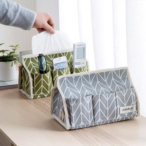 <span class=H>居家</span>家 棉麻茶几纸巾盒遥控器<span class=H>收纳</span>盒 创意<span class=H>布艺</span>家用客厅桌面抽纸盒