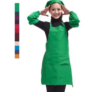 韩版时尚厨房防污工作服 成人咖啡店餐厅<span class=H>围裙</span>+<span class=H>袖套</span>+头巾套装女