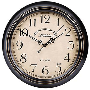 力时达美式复古静音<span class=H>挂钟</span>客厅简欧创意欧式挂表北欧艺术装饰时钟表
