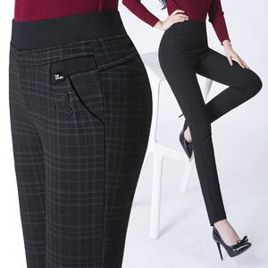 格子<span class=H>打底</span><span class=H>裤</span>外穿女中年妈妈装<span class=H>裤</span>子中老年女<span class=H>裤</span>秋冬季长<span class=H>裤</span>加绒加厚