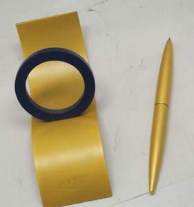创意简约金色钛金属磁性<span class=H>笔架</span>555定制清仓