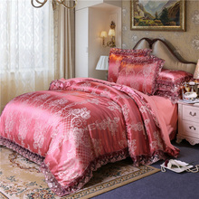 Four sets of jacquard bedding for household wedding in 2019