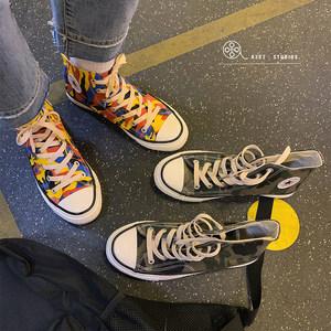 子俊夏季迷彩高帮帆布鞋男士韩版潮流百搭板鞋<span class=H>休闲鞋</span>学生平底鞋子