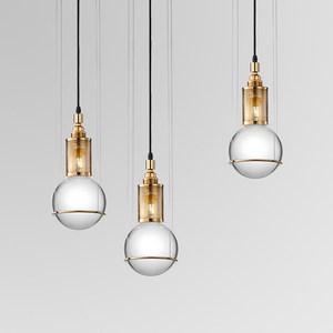 最<span class=H>灯饰</span>美式简约吊灯铁艺水晶球餐厅灯具北欧客厅卧室设计师吊灯