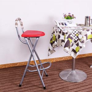 折叠阳台凳子吧台椅酒吧凳便携高脚高凳子 前台凳椅有搁脚
