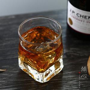 日本进口玻璃杯 玻璃威士忌杯子烈<span class=H>酒杯</span>洋酒特饮杯岩石四方创意
