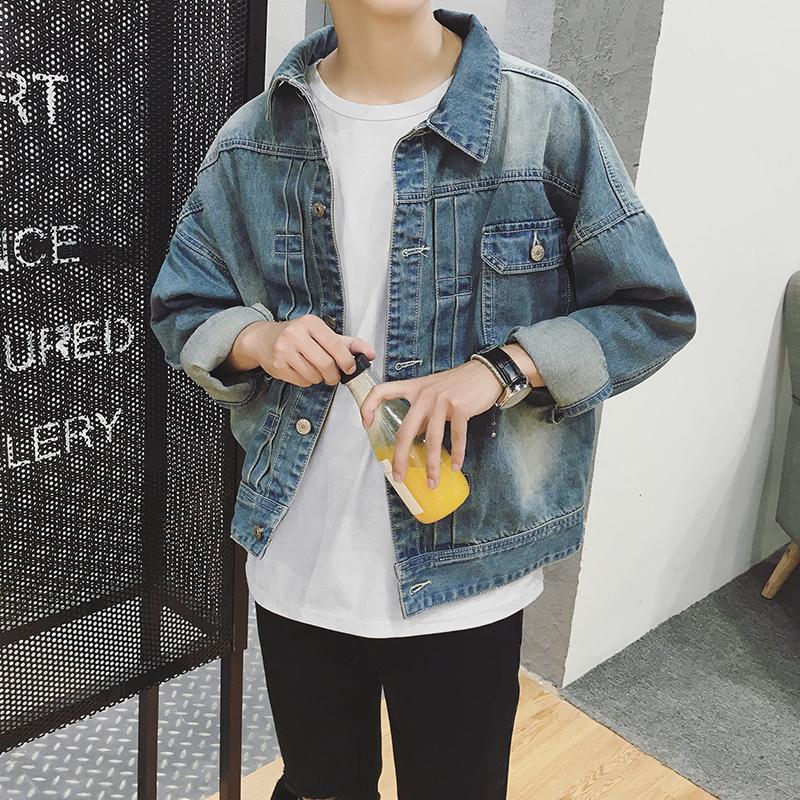 2017 Fall Pakaian Mantel Air Wash untuk Melakukan Koboi Tua Jaket Pria Santai Membalikkan untuk Mendapatkan Remaja saat Ini Daftar Baris Tombol Hingga Koboi Gaun 3 Dolar-Internasional