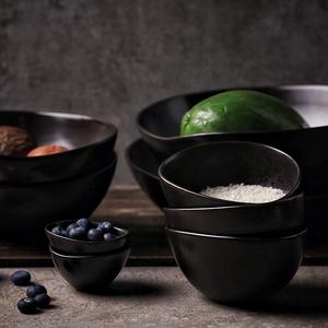 【成本清仓】餐具大碗创意陶瓷面碗日式黑色米饭碗釉下彩拉面碗