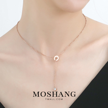 Lovers Gift of Red Clavicle Chain in Rome Single Diamond Short Chain