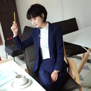 春秋职业装女装套装三件套2018新款正装端庄大气工作服西装套装女