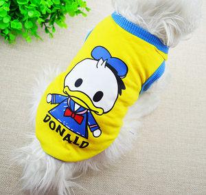3件包邮猫咪宠物春夏新款无袖衣服中小狗狗卡通小熊背心特价促销