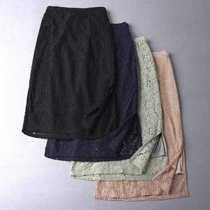 91091出岛国水溶蕾丝松紧腰女包臀半身裙一步裙<span class=H>铅笔裙</span>0.2