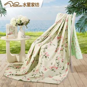 水星家纺夏沫之晨被套单双人全棉纯棉被套宿舍床上用品1.5/1.8米
