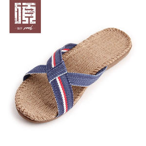 金硕亚麻拖鞋2343女款厚底夏季室内居家潮休闲防滑凉拖鞋耐磨时尚