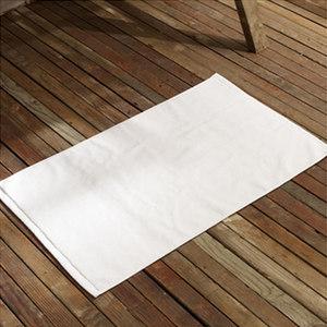 五星级酒店宾馆卫浴用品 全棉白色<span class=H>地巾</span>地垫加厚 32支350克