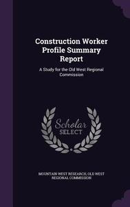 【预订】Construction Worker Profile Summary ...