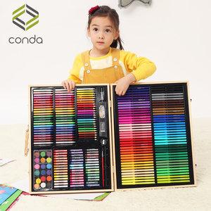儿童<span class=H>水彩笔</span>套装幼儿园画画笔初学者小学生用画笔36色宝宝绘画颜色笔小孩蜡笔彩笔多功能安全无毒可水洗彩色笔