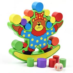 儿童木质益智积木小熊平衡亲子游戏 幼儿园早教中心推荐玩具