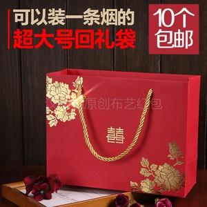 创意回礼袋结婚个性 礼品袋喜糖婚礼<span class=H>手提袋</span>大号婚礼红包袋新品