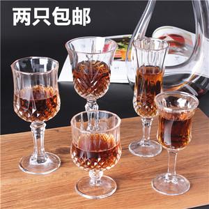 创意<span class=H>水晶</span>玻璃钻石红酒杯洋酒杯葡萄酒杯香槟杯酒具威士忌高脚杯