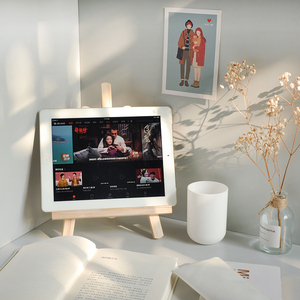 领5元券购买ins风木质桌面画架手机ipad支架装饰学生书桌收纳平板可折叠支架