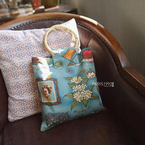 小巴黎 自制文艺复古时光小圆竹节手提斜挎帆布包环保袋女包 包邮