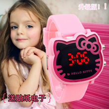 Children's watch girl, Korean cartoon, cute LED luminous watch, child student girl digital electronic watch