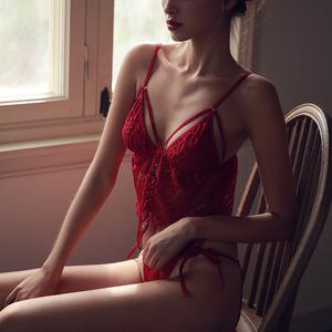 未满 性感睡衣女睫毛蕾丝吊带短裤套装情趣诱惑家居服