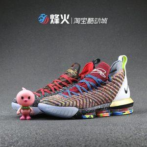 詹姆斯16代篮球鞋黑红高帮鸳鸯LBJ16<span class=H>战靴</span>气垫运动男鞋 AO2595