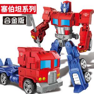 合金变形玩具机器人金刚汽车 擎天柱大黄蜂套装5车4儿童男孩3-6岁