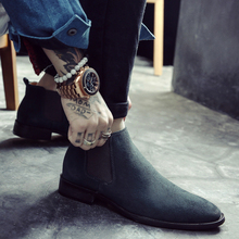 New Men's Tip Martin Boots, Men's Leather Shoes, British Men's Boots, Chelsea Boots, High Uppers