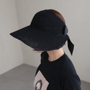 韩国ins<span class=H>草帽</span>女夏天防紫外线亚麻空顶帽遮阳防晒帽沙滩太阳帽大檐