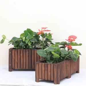 防腐木<span class=H>花箱</span>组合碳化实木质特大号加厚户外室外阳台种菜盆庭院花槽