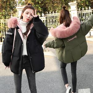 潮流拉链时尚气质清纯甜美2018年冬季长袖短款休闲女装棉衣/棉服