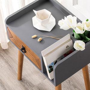 北欧实木床头柜简约现代卧室床边小柜子储物柜简易创意床头收纳柜