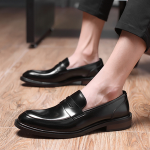 2018春季新款英伦时尚男士商务皮<span class=H>鞋</span>娱乐网站白菜网站大全正装真皮<span class=H>男鞋</span>子懒人乐福<span class=H>鞋</span>