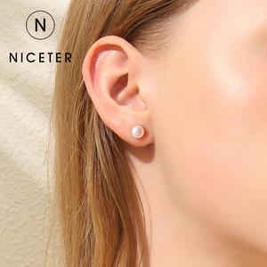 925纯银天然珍珠耳钉小巧妈妈耳环