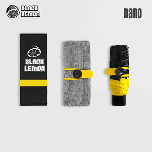 BlackLemon黑柠檬超轻太阳伞女防晒防紫外线迷你五折叠遮阳小黑伞