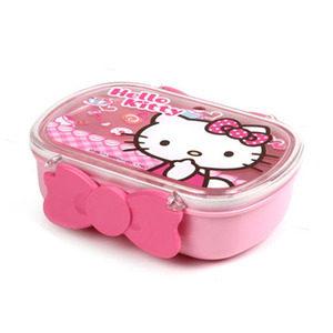 韩国进口正品hello kitty<span class=H>凯蒂</span><span class=H>猫</span>可爱小<span class=H>学生</span>宝宝分格便当<span class=H>饭盒</span>