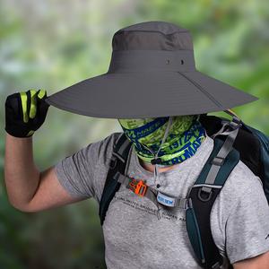 <span class=H>帽子</span>男户外夏天青年渔夫帽大码大头休闲中年防晒钓鱼帽男士太阳帽