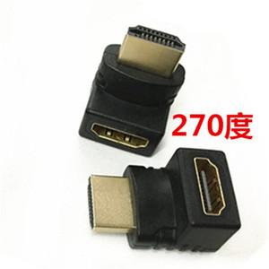 HDMI公转HDMI母弯头直角270度L型<span class=H>转接头</span>线1.4版公对母转换头