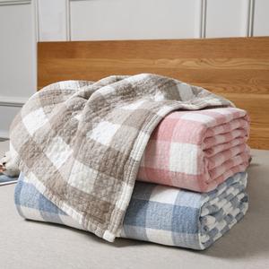 水洗纱布<span class=H>毛巾被</span>纯棉三层全棉<span class=H>毛巾毯</span>夏季单人双人夏凉毯空调被床单