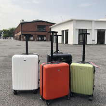 Ins ultra-light export single-rod pull-rod box net red lady suitcase luggage case universal wheel boarding case 22 inch suitcase