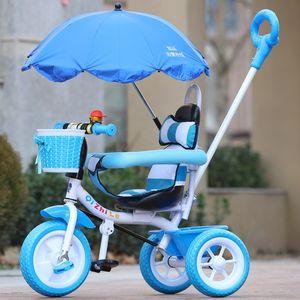 轻便儿童<span class=H>三轮</span>车<span class=H>卡通</span>可坐手<span class=H>推车</span>宝宝脚踏车婴幼儿男女玩具童车
