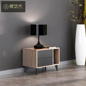 床头柜北欧风格现代简约小户型板式简易床边柜经济型收纳柜储物柜