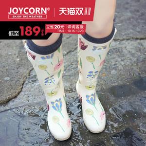joycorn欧美<span class=H>女</span>士碎花<span class=H>高筒</span>橡胶<span class=H>雨鞋</span><span class=H>女</span> <span class=H>时尚</span>雨靴<span class=H>女</span>水鞋胶鞋防水鞋